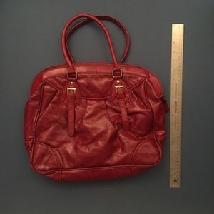 Handbags - Red, soft patent - faux leather mini tote